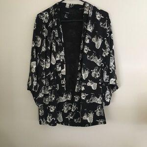🍒Buy 2 get 1 FREE🍒 Forever 21 tiger kimono small